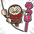 Funny Monkey Pop-Ups 2 Sticker for LINE & WhatsApp | ZIP: GIF & PNG