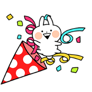 Happy Mini Usagyuuun Sticker for LINE & WhatsApp | ZIP: GIF & PNG