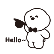 Hello! Zentle Pangah Sticker for LINE & WhatsApp | ZIP: GIF & PNG