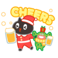 Kuroro Space Explorer: My Naughty Winter Sticker for LINE & WhatsApp | ZIP: GIF & PNG