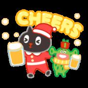Kuroro Space Explorer: My Naughty Winter Sticker for LINE & WhatsApp | ZIP: GIF & PNG