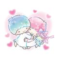 Little Twin Stars: Watercolors Sticker for LINE & WhatsApp | ZIP: GIF & PNG