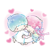 Little Twin Stars: Watercolors Sticker for LINE & WhatsApp | ZIP: GIF & PNG