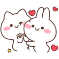 Mimi & Neko 2 Sticker for LINE & WhatsApp | ZIP: GIF & PNG