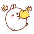 Molang: Happiness is Here! Sticker for LINE & WhatsApp | ZIP: GIF & PNG