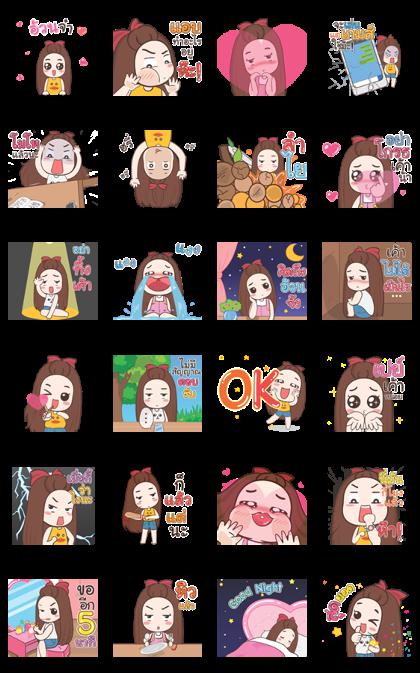 Pukpang Pop-Ups Line Sticker GIF & PNG Pack: Animated & Transparent No Background | WhatsApp Sticker