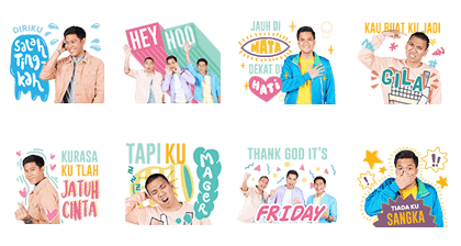 RAN For Your Life: Music Stickers Line Sticker GIF & PNG Pack: Animated & Transparent No Background | WhatsApp Sticker