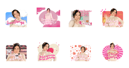 Raisa's Songs for You Line Sticker GIF & PNG Pack: Animated & Transparent No Background | WhatsApp Sticker