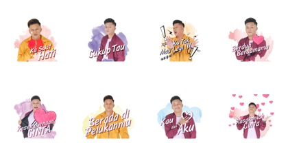 Rizky Febian: The Loving Guy Line Sticker GIF & PNG Pack: Animated & Transparent No Background | WhatsApp Sticker