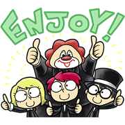SEKAI NO OWARI by SONIC Sticker for LINE & WhatsApp | ZIP: GIF & PNG