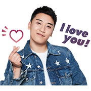 SEUNGRI of BIGBANG Voice Stickers Sticker for LINE & WhatsApp | ZIP: GIF & PNG