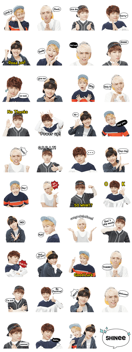 SHINee Special Line Sticker GIF & PNG Pack: Animated & Transparent No Background | WhatsApp Sticker