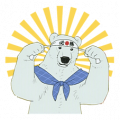 SHIROKUMA CAFÉ Sticker for LINE & WhatsApp | ZIP: GIF & PNG