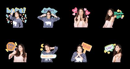 Salshabilla Line Sticker GIF & PNG Pack: Animated & Transparent No Background | WhatsApp Sticker