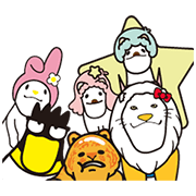 Sanrio Characters × Shakurel Planet Sticker for LINE & WhatsApp | ZIP: GIF & PNG