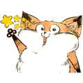 Sesame Fox Sticker for LINE & WhatsApp | ZIP: GIF & PNG
