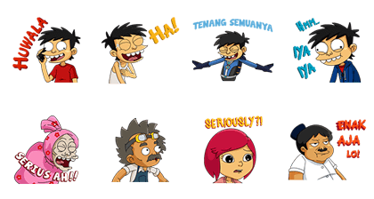 Si Juki Movie Line Sticker GIF & PNG Pack: Animated & Transparent No Background | WhatsApp Sticker
