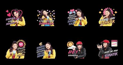 Siti Badriah: Lagi Syantik Line Sticker GIF & PNG Pack: Animated & Transparent No Background | WhatsApp Sticker