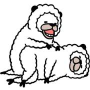 Smiling Alpaca 4 Sticker for LINE & WhatsApp | ZIP: GIF & PNG