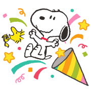 Snoopy Assorted Pop-Up Stickers Sticker for LINE & WhatsApp | ZIP: GIF & PNG