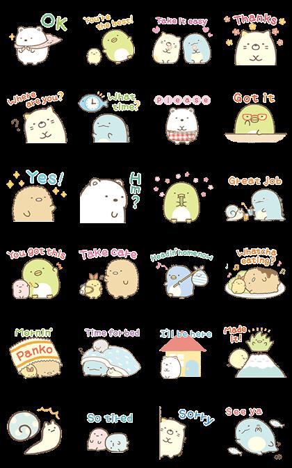 Sumikko Gurashi Family Stickers Line Sticker GIF & PNG Pack: Animated & Transparent No Background   WhatsApp Sticker