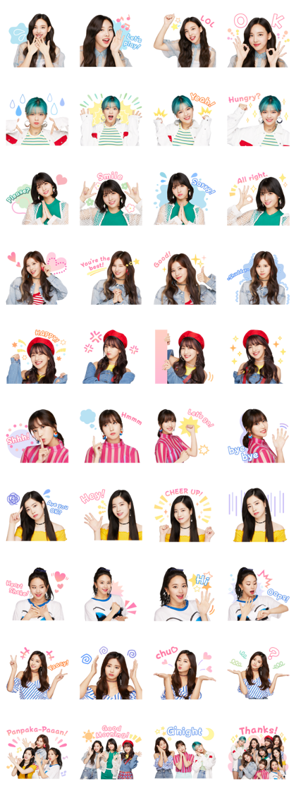 TWICE Line Sticker GIF & PNG Pack: Animated & Transparent No Background | WhatsApp Sticker