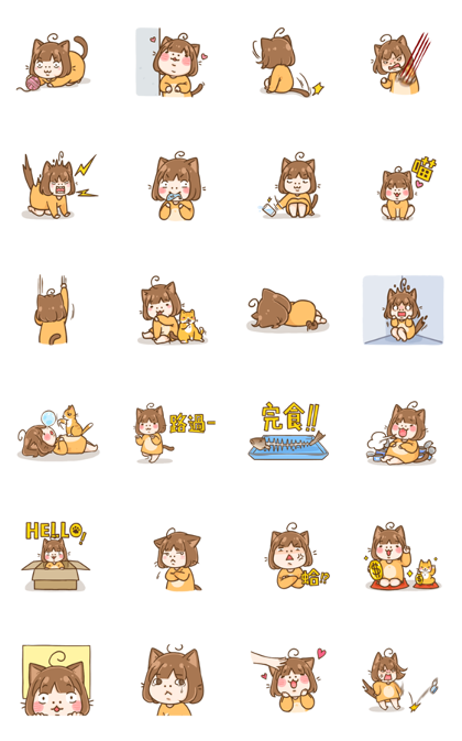 Transform! Ebi Meow! Line Sticker GIF & PNG Pack: Animated & Transparent No Background | WhatsApp Sticker