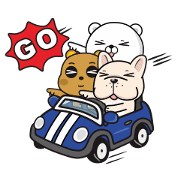 Tsundere Bear & Straight Bear: Happy! Sticker for LINE & WhatsApp | ZIP: GIF & PNG