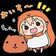 UMARU-chan and KAPIBARASAN Sticker for LINE & WhatsApp | ZIP: GIF & PNG
