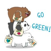 We Bare Bears: Time to Celebrate! Sticker for LINE & WhatsApp | ZIP: GIF & PNG