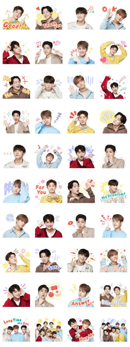 iKON Line Sticker GIF & PNG Pack: Animated & Transparent No Background | WhatsApp Sticker