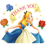 Alice in Wonderland (Magical Book) Sticker for LINE & WhatsApp | ZIP: GIF & PNG