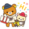 Always with Rilakkuma Stickers Sticker for LINE & WhatsApp | ZIP: GIF & PNG