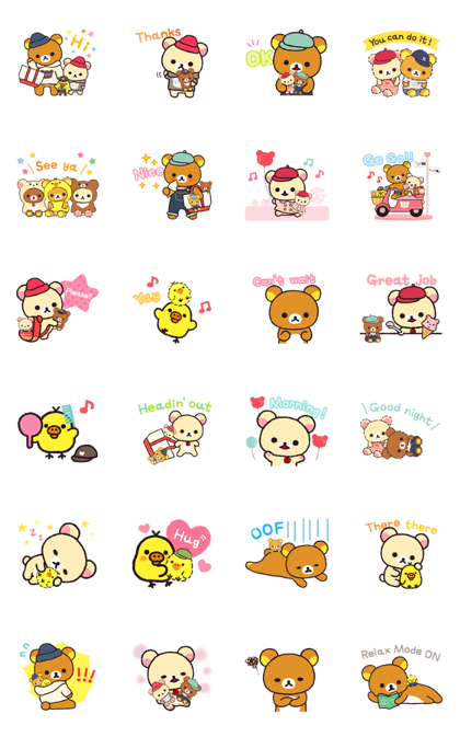 Always with Rilakkuma Stickers Line Sticker GIF & PNG Pack: Animated & Transparent No Background | WhatsApp Sticker