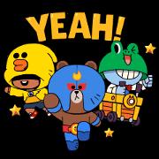 BRAWL STARS × LINE FRIENDS Sticker for LINE & WhatsApp | ZIP: GIF & PNG