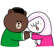 Brown & Cony: Hari Raya Aidil Fitri Special Sticker for LINE & WhatsApp | ZIP: GIF & PNG