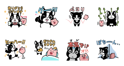 Buffe & PIG's Everyday Line Sticker GIF & PNG Pack: Animated & Transparent No Background | WhatsApp Sticker