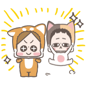 CHUCHUMEI: Cat and Dog Sticker for LINE & WhatsApp | ZIP: GIF & PNG