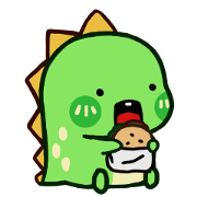 Chobosaurus: Hello Chobosaurus! Sticker for LINE & WhatsApp | ZIP: GIF & PNG