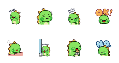 Chobosaurus: Hello Chobosaurus! Line Sticker GIF & PNG Pack: Animated & Transparent No Background | WhatsApp Sticker
