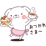 Daily Lives of cute white dogs × LINE MOOK Sticker for LINE & WhatsApp | ZIP: GIF & PNG