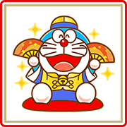 Doraemon CNY Stickers (2018) Sticker for LINE & WhatsApp | ZIP: GIF & PNG