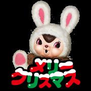 Echika Christmas Stickers Sticker for LINE & WhatsApp | ZIP: GIF & PNG