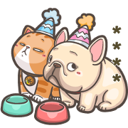 French Bulldog PIGU-Custom Stickers II Sticker for LINE & WhatsApp | ZIP: GIF & PNG