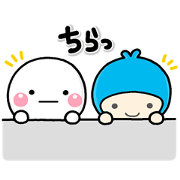 Friendly Shiromaru! With Meiji Yasuda 2 Sticker for LINE & WhatsApp | ZIP: GIF & PNG