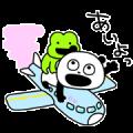 Gokigen panda × LINE TRAVEL jp Sticker for LINE & WhatsApp | ZIP: GIF & PNG