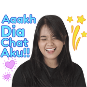 Hanin Dhiya - Sans! Sticker for LINE & WhatsApp | ZIP: GIF & PNG