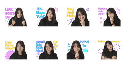 Hanin Dhiya - Sans! Line Sticker GIF & PNG Pack: Animated & Transparent No Background | WhatsApp Sticker