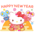 Hello Kitty CNY Stickers Sticker for LINE & WhatsApp | ZIP: GIF & PNG
