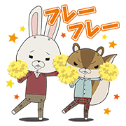 KAMI USAGI ROPÉ Chatty Pop-Up Stickers Sticker for LINE & WhatsApp | ZIP: GIF & PNG